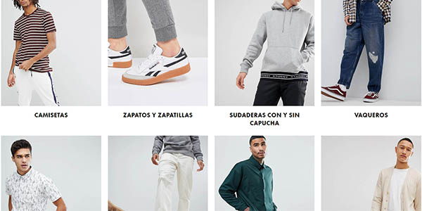 ropa para hombre con grandes descuentos en primeras marcas en Asos