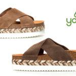 Sandalias planas Yokono Itaca de piel serraje para mujer baratas en eBay