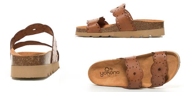 sandalias Yokono Denim en piel oferta