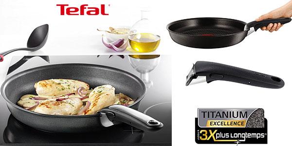 Set de 2 sartenes Tefal Ingenio Expertise de aluminio con mango extraíble en oferta