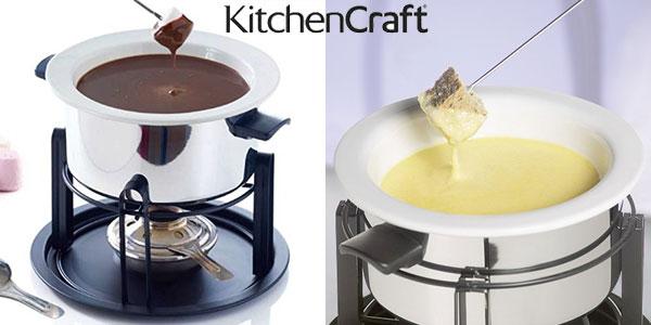 Set Multi Fondue Deluxe en acero y cerámica Kitchen Craft con 6 pinchos chollazo en Amazon