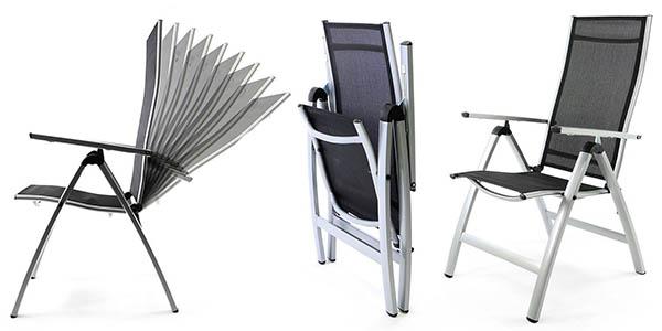 Chollo silla nexos zgc34483 para jard n en aluminio por s lo 25 95 con env o gratis - Sillas de aluminio para jardin ...
