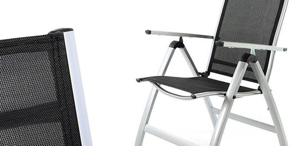 silla jardín reclinable y resistente chollo