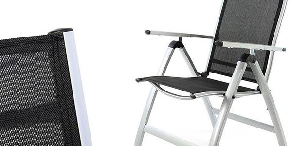 Chollo silla nexos zgc34483 para jard n en aluminio por for Sillas jardin amazon