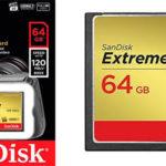 Tarjeta de memoria Compact Flash de 64 GB SanDisk SDCFXSB-064G-FFP