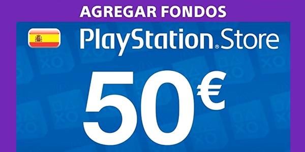 Tarjeta prepago PlayStation PS Store 50€ barata