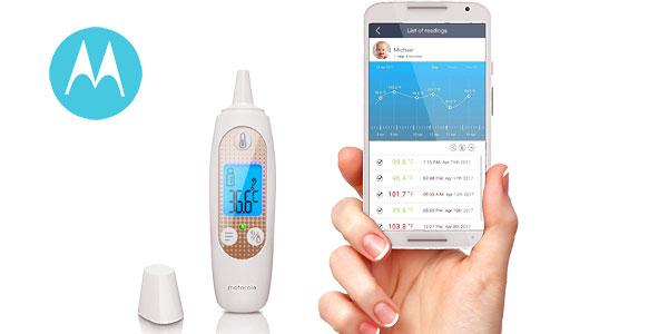 Termómetro inteligente Motorola MBP69SN de oído barato en Amazon