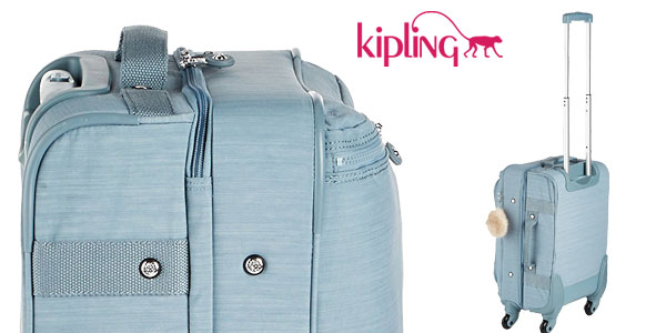 Maleta de mano Kipling Cyrah S en color azul cielo chollo en Amazon
