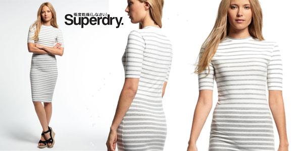 Vestido Superdry Marga Tube Collar Gris para mujer barato en eBay España