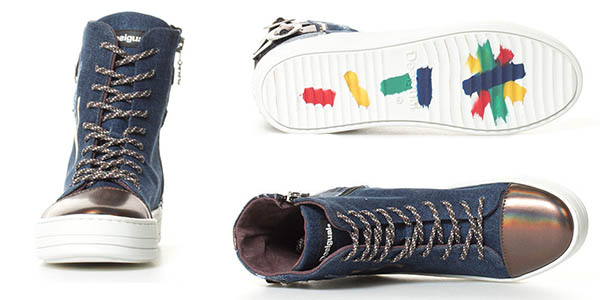 zapatillas de diseño original y casual Desigual Denim Patch Reggae en oferta