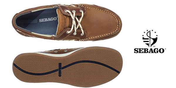 Zapatos náuticos Sebago TRITON THREE EYE en color marrón chollo en Amazon