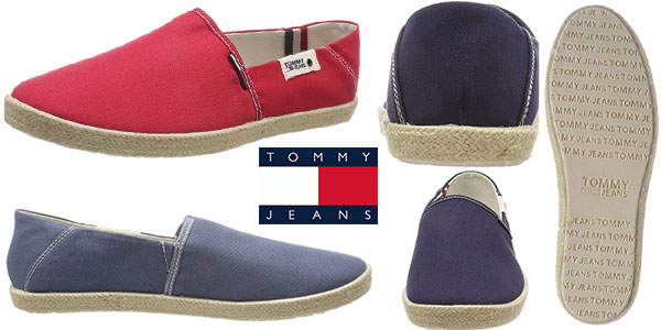 Alpargatas Tommy Jeans Summer Slip On en varios colores para hombre baratas