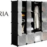 Armario modular Langria de 16 cubos barato en Amazon
