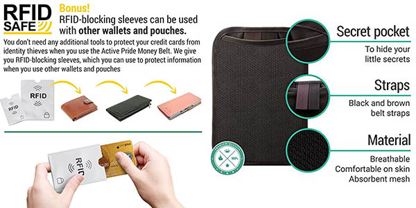 bandolera organizador para viajes con protección RFID chollo