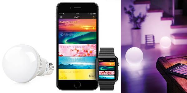 bombilla de luz inteligente con control mediante smartphone barata
