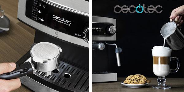 Cafetera Cecotec Power Espresso 20 con vaporizador chollazo en Amazon
