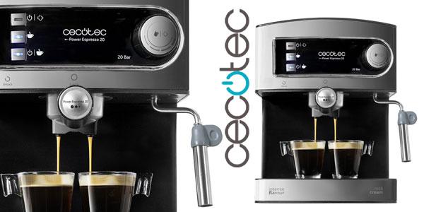 Cafetera Cecotec Power Espresso 20 con vaporizador barata en Amazon