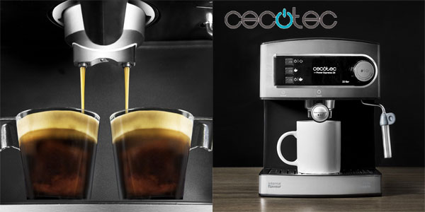 Cafetera Cecotec Power Espresso 20 con vaporizador chollo en Amazon