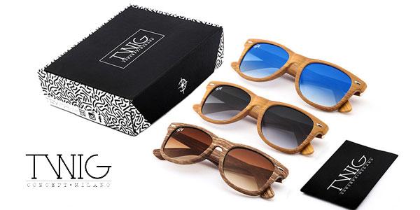 Caja 3 Gafas de sol unisex Russell GR en madera de Twig Concept Milano barata en eBay