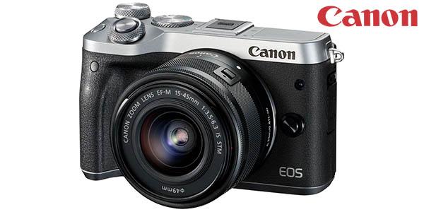 Cámara EVIL Canon EOS M6 de 24.2 MP + EF-M 15-45MM