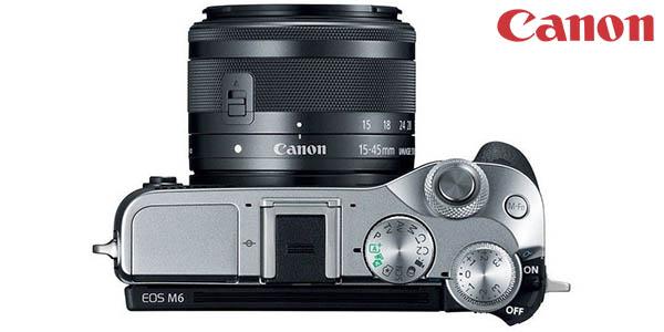 Cámara EVIL Canon EOS M6 de 24.2 MP + EF-M 15-45MM barata