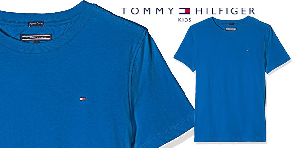 Camiseta Tommy Hilfiger AME Original para niños en 4 colores chollazo en Amazon