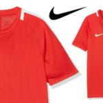 Camiseta técnica Nike NK Dry Acdmy SS de manga corta en color rojo para niños barata en Amazon