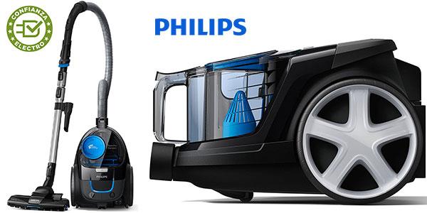 Chollo Aspirador sin bolsa Philips Fc9331/09 PowerPro Compact para suelos duros con filtro antialergia