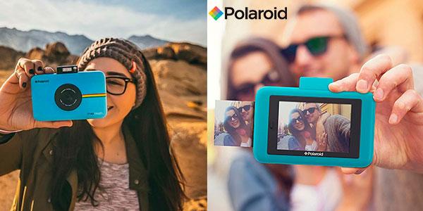79e8d90367ce3 Chollo Cámara digital instantanea Polaroid Snap Touch de color azul de 13MP  con Bluetooth y pantalla