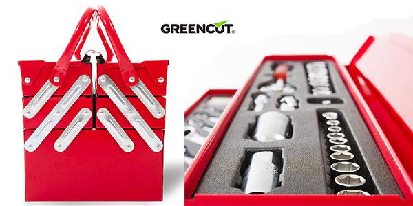 Chollo Maletín de herramientas Greencut Tools 118 de acero cromo vanadio