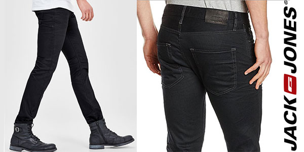 Chollo Vaqueros Jack & Jones Clark Jos 935 de color negro para hombre