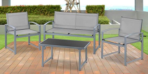 Chollazo set de muebles de jard n mchaus con sof mesilla for Transporte de muebles barato