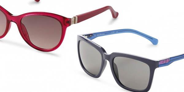 gafas de sol Calvin Klein con montura de acetato y lentes con protección solar en oferta