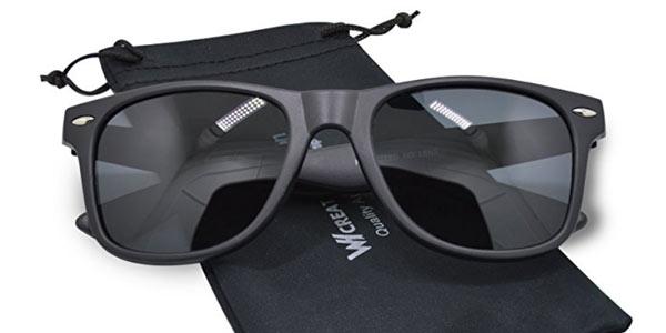 Gafas de sol unisex polarizadas Whcreat Wayfarer baratas en Amazon