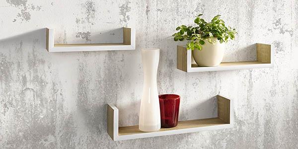 juego de 3 estanterías de madera con genial relación calidad-precio