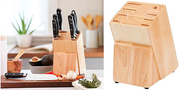 Juego AmazonBasics de cuchillos de cocina (9 piezas y soporte) barato
