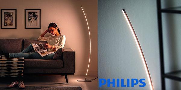 Lámpara de pie Philips MyLiving Hexagon de luz blanca cálida no regulable barata
