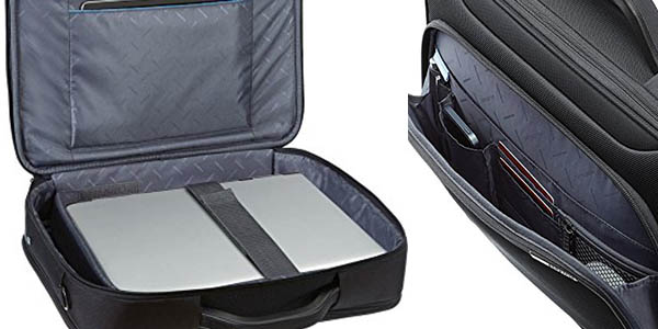 maletín resistente y acolchado Samsonite Vectura Office Case Plus chollo