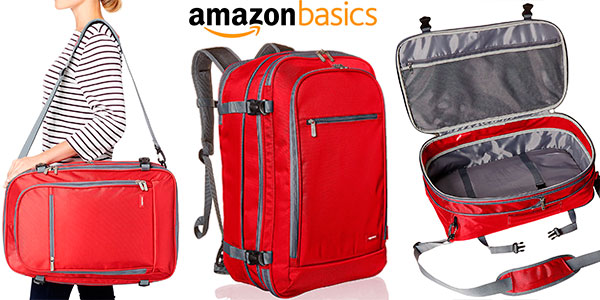Mochila AmazonBasics para equipaje de mano de 50 litros barata