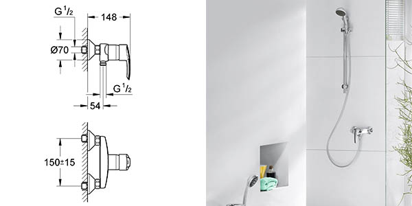 monomando para ducha y bañera Grohe Start con tecnología ECO oferta