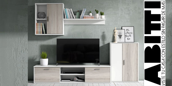 Chollazo mueble de sal n comedor de 4 m dulos abitti 41101 for Muebles salon modulos