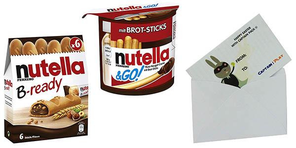 Nutella crema de cacao barritas con palitos y chocolate oferta