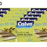 Pack de 10 latas de sardinas en aceite de oliva Calvo bajas en sal 120gr barato en Amazon