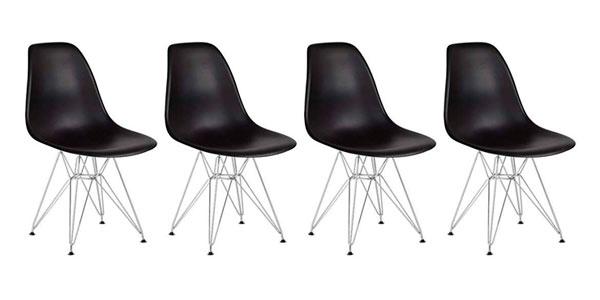 PAck de 4 sillas réplica Eames Icons Corner modelo Eiffel baratas en Amazon