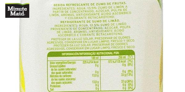 Pack de 6 botellas Minute Maid Limon&Nada chollazo en Amazon