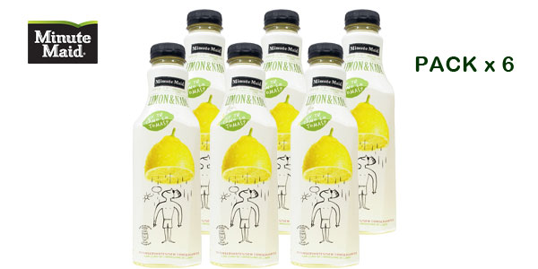 Pack de 6 botellas Minute Maid Limon&Nada barato en Amazon
