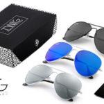 Pack 3 Gafas de sol unisex Aviador de Twig Concept Milano barato en eBay