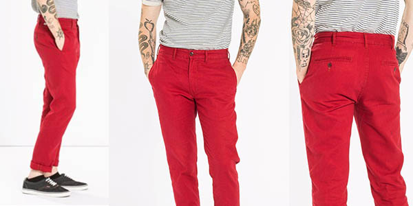 pantalones chinos Levi's 511 Scooter color rojo oferta