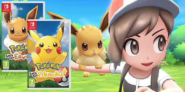 Pokémon Let's Go Pikachu o Pokémon Let's Go Eevee para Nintendo Switch