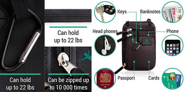 portadocumentos para llevar dinero con seguridad en tus viajes oferta